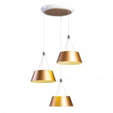 Люстра Hi-Tech 2-5015-3-WH+GL LED